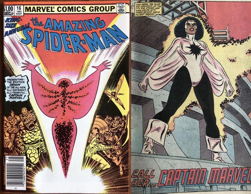 """Mónica Rambeau en el número 16 de """"The Amazing Spider-Man"""" (1982)."""