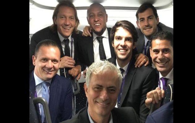Leyendas del Real Madrid se reencontraron en París