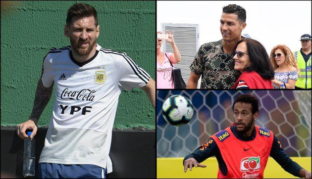 Lionel Messi, Cristiano Ronaldo y Neymar están el top 10 de celebridades mejor pagadas de Forbes