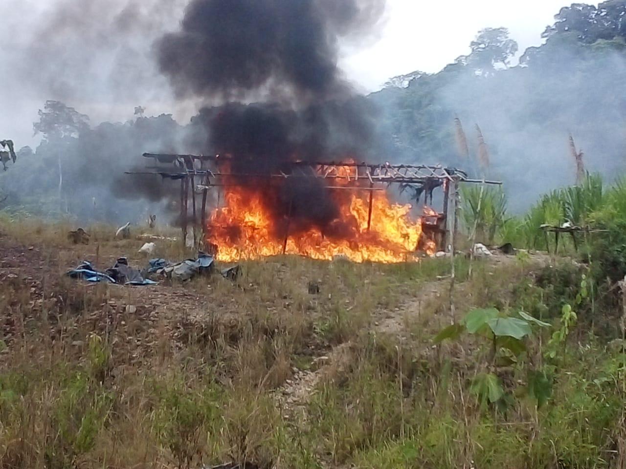 Madre de Dios: destruyen campamentos de minería ilegal en la localidad de Kotsimba | FOTOS