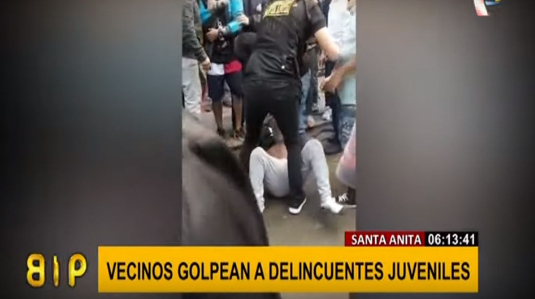 Santa Anita: vecinos atrapan y casi linchan a ladrones que robaron celular | VIDEO