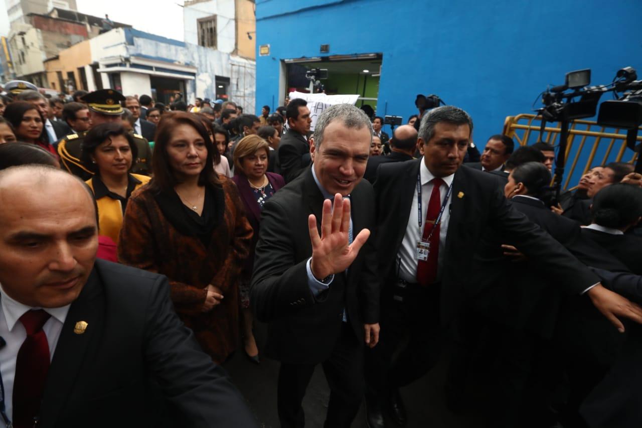 Así fue el recorrido de Salvador del Solar hacia el Congreso para solicitar cuestión de confianza | FOTOS
