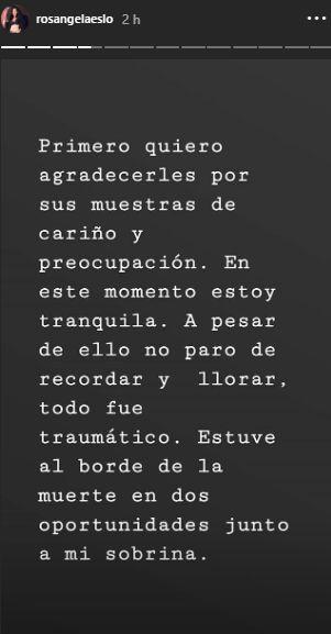 Este fue el mensaje que compartió Rosángela Espinoza en sus redes sociales. (Foto: @rosángelaespinoza)