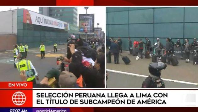 Selección peruana tuvo emotivo recibimiento tras quedar subcampeón de la Copa América | VIDEO