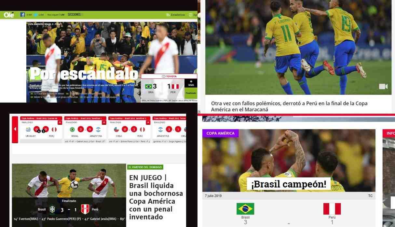 Perú vs. Brasil: reacción de la prensa argentina tras la final de la Copa América 2019 | FOTOS