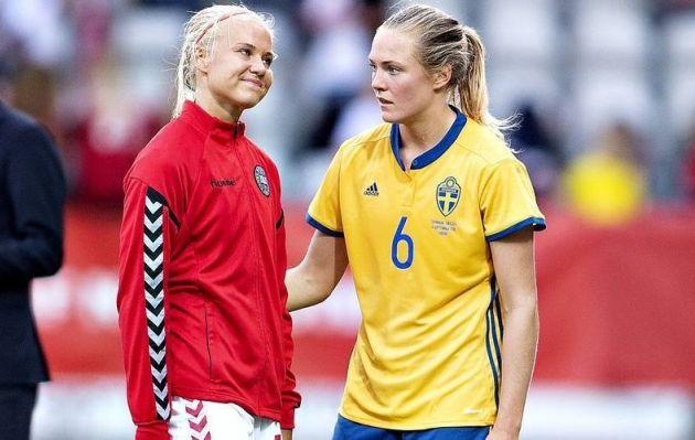Magdalena Eriksson recibe el apoyo de su novia, y rival de juego, en el Mundial Femenino de Fútbol
