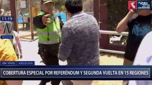 Referéndum: otro elector retirado de centro de votación por estar presuntamente ebrio