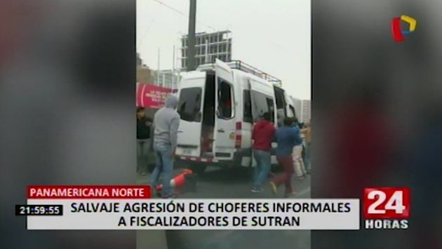 Transportistas informales atacaron a pedradas a inspectores de Sutran