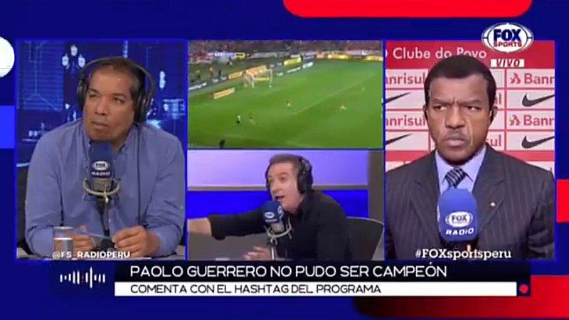Eddie Fleischman y Flavio Maestri protagonizan acalorada discusión por final perdida de Paolo Guerrero   VIDEO