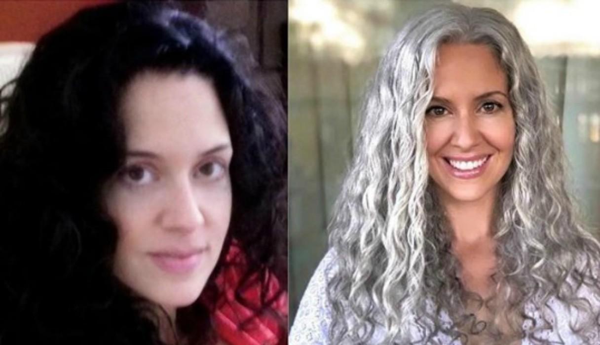 Mujer decide dejar de teñirse el cabello para lucir sus canas y asombra al mundo con su belleza natural