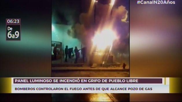 Pueblo Libre: alarma por incendio en un grifo | VIDEO