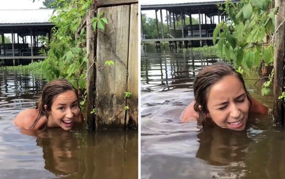 Metió su mano al río y se llevó una gran sorpresa [FOTOS Y VIDEO]