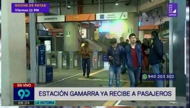 Reabren estación Gamarra del Metro tras operativo en Av. Aviación