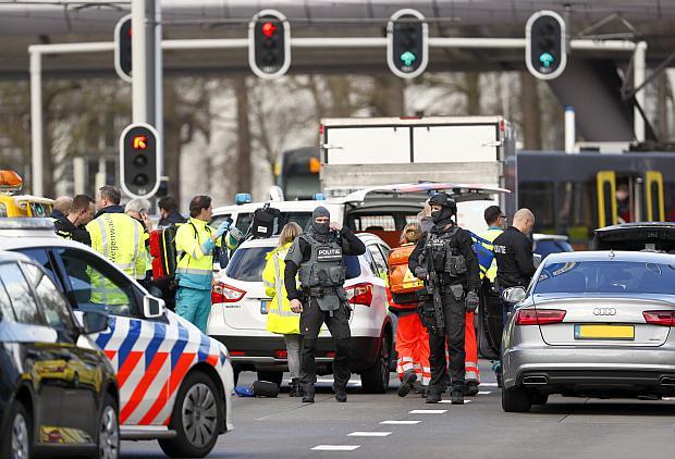 Tiroteo en ciudad holandesa de Utrecht deja al menos un muerto y varios heridos