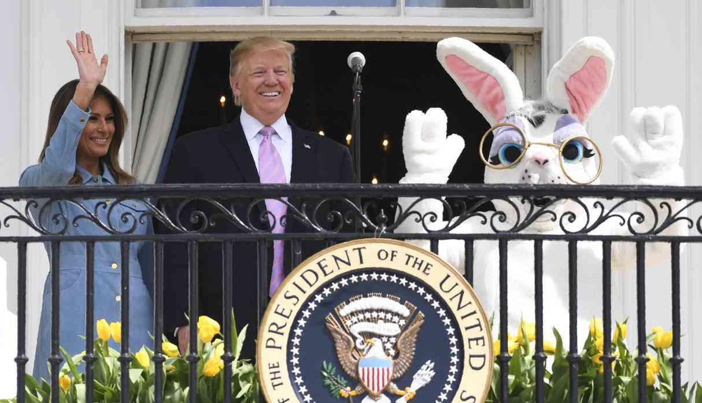 Los Trump buscan huevos de Pascua en la Casa Blanca junto a 30.000 invitados