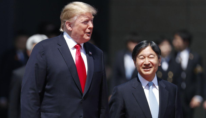 Trump, el primer líder extranjero que conoce al nuevo emperador de Japón | FOTOS