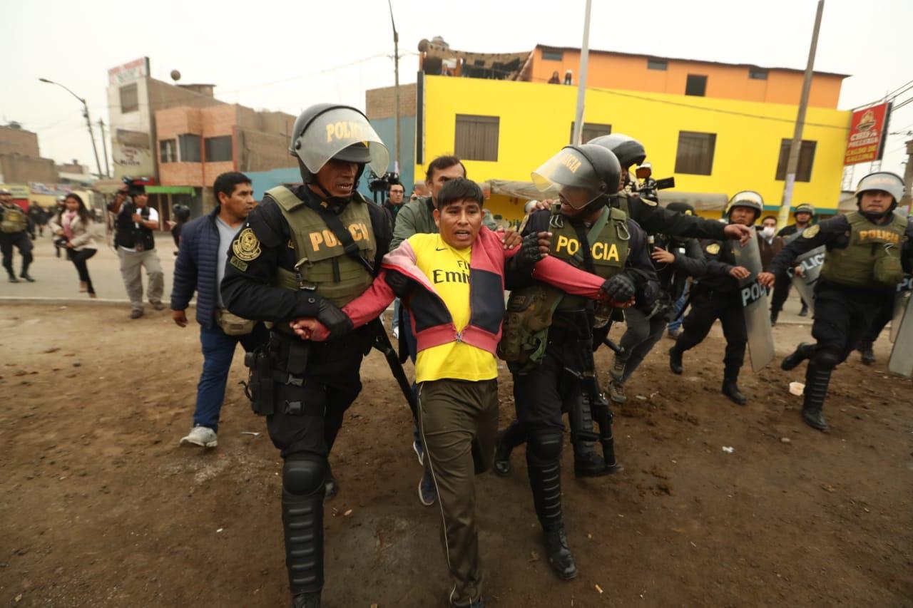Marcha contra peajes: al menos 12 personas fueron detenidas durante movilización, según PNP