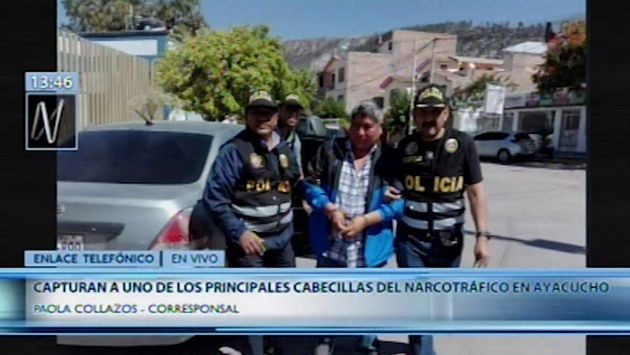 Ayacucho: capturan a Víctor Rivera Muñoz 'Jarachupa', el narcotraficante más buscado de la región