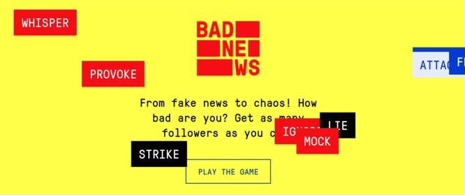 Pantalla inicial del juego Bad News. (Foto: Captura)