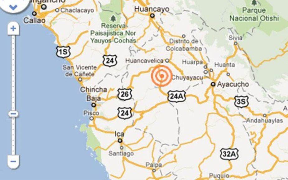 Reportan sismo de 5.2 grados en Huancavelica