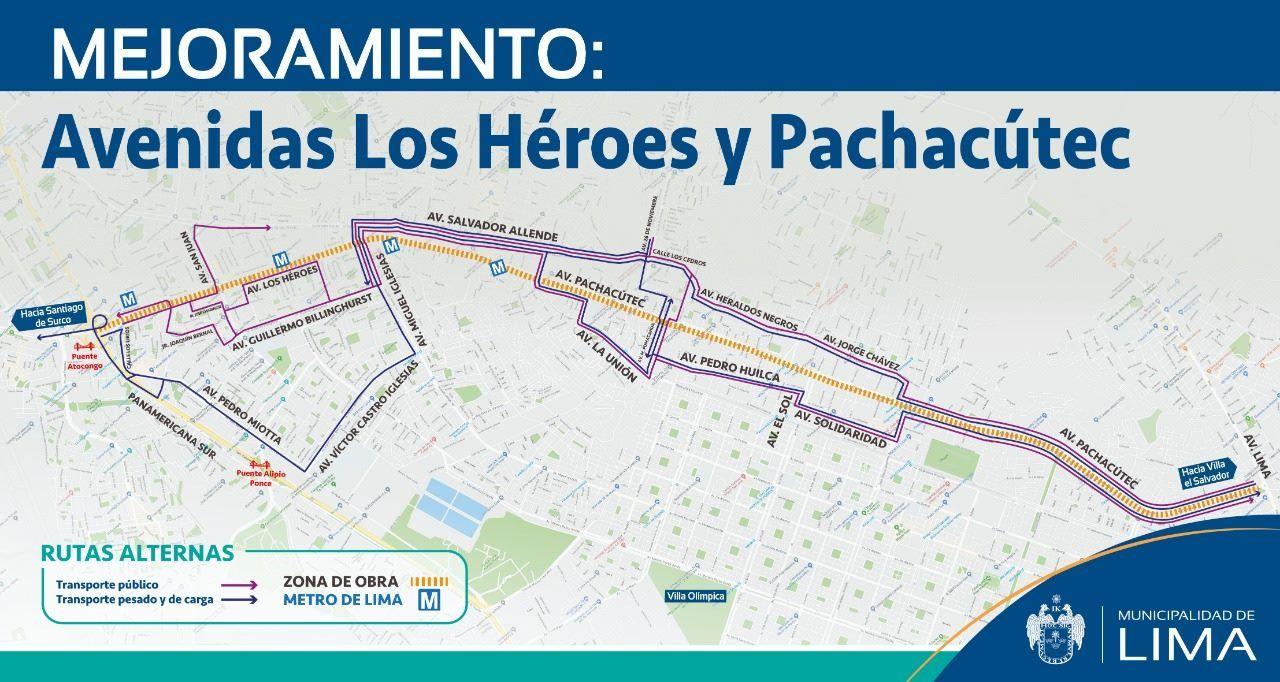 Este es el plan de desvíos que ha establecido la Municipalidad de Lima. (Foto: Difusión)