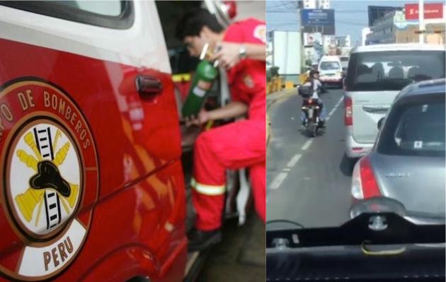Motociclista dirigió el tráfico para que bomberos puedan cumplir con su labor [VIDEO]