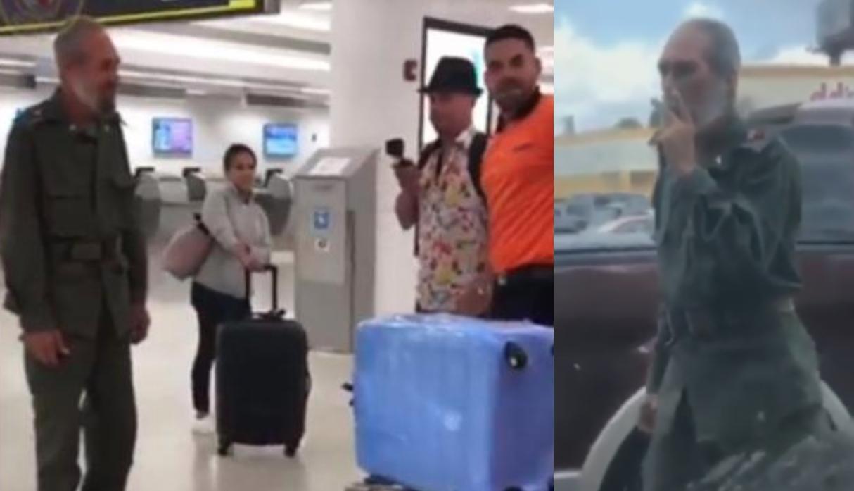 Doble de Fidel Castro se viraliza en redes sociales tras pasearse por Miami   VIDEO