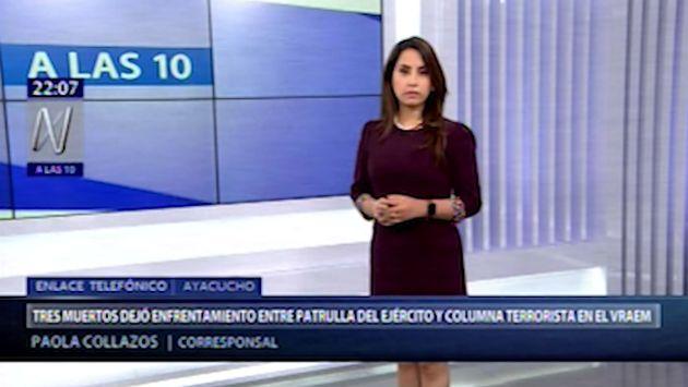 Junín: reportan que 3 muertos dejó enfrentamiento entre el Ejército y terroristas en el VRAEM