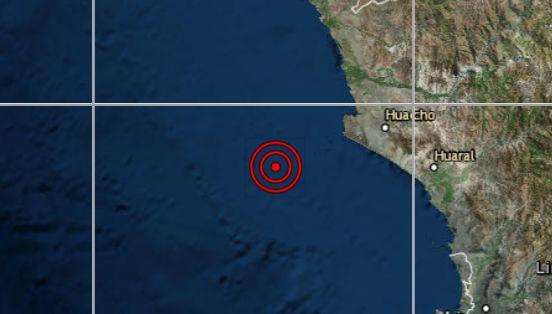 Sismo de magnitud 3,7 se registró en Huacho, señala IGP