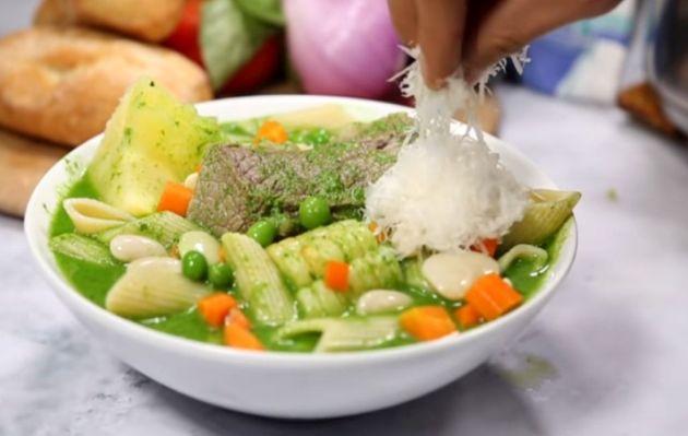 El menestrón, la sopa inspirada en un platillo italiano   RECETA