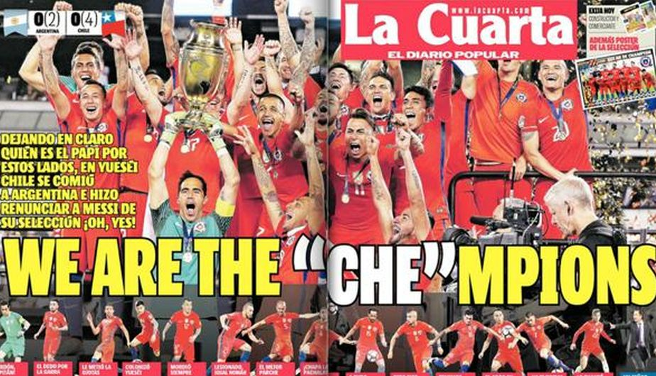 Chile campeón: Así celebró la prensa sureña el título de la ...