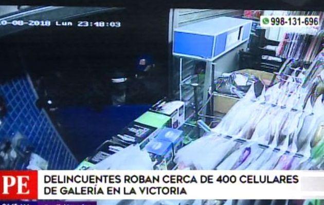 La Victoria: roban más de 300 celulares en galería, pero uno de ellos olvida su DNI