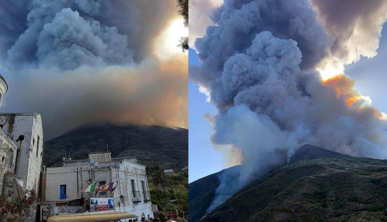 Violenta explosión del volcán Stromboli en Italia deja un muerto y un herido   FOTOS