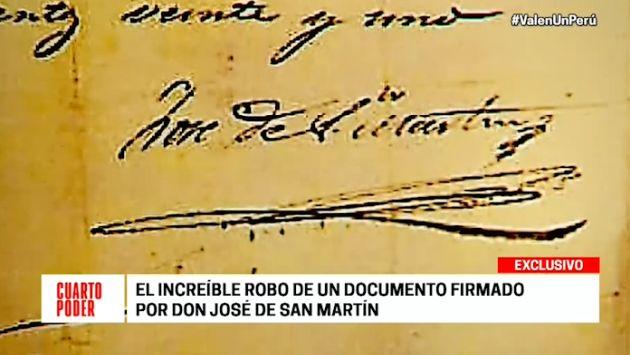 La Policía ya tiene a un sospechoso del robo de documento histórico firmado por José de San Martín