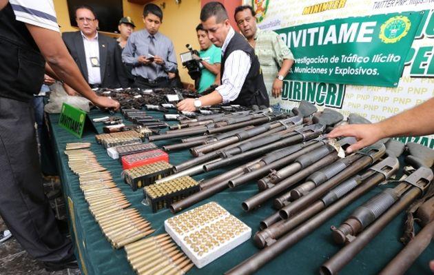 Policía desarticula organización que abastecía armas a sicarios en Perú