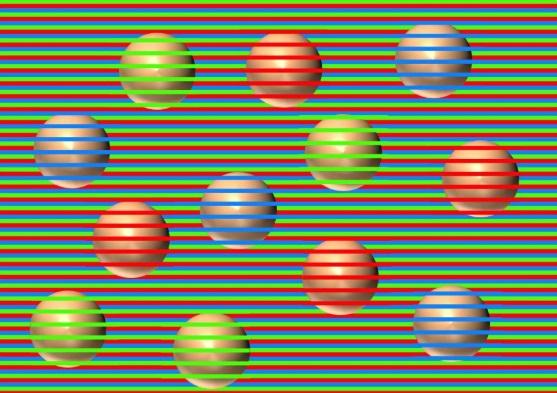 ¿De qué color son las esferas? La increíble ilusión óptica que causa sensación en Internet