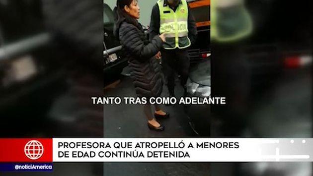 Miraflores: profesora que atropelló a escolares y un niño, contó que pisó por error el acelerador