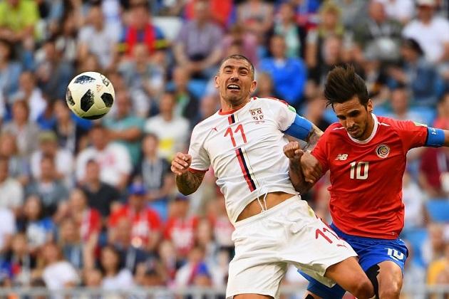 Rusia 2018: Costa Rica pierde 1-0 ante Serbia en su arranque en el Mundial