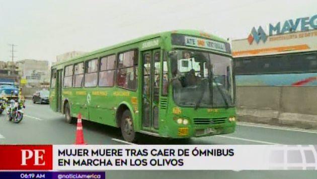 Los Olivos: mujer muere tras caer de bus cuando intentaba bajar en paradero