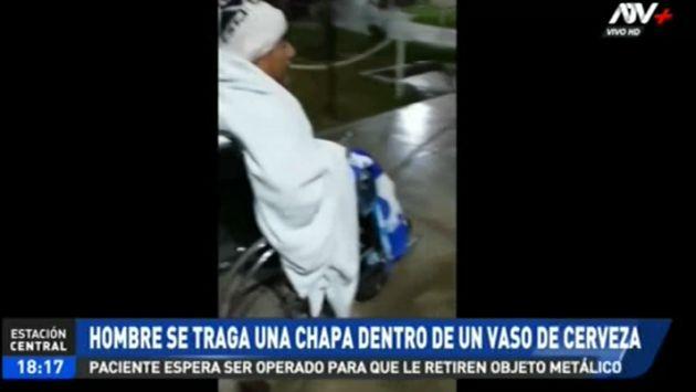 Carabaylllo: terminó con chapa en la garganta tras tomar un vaso de cerveza en el Día del Padre