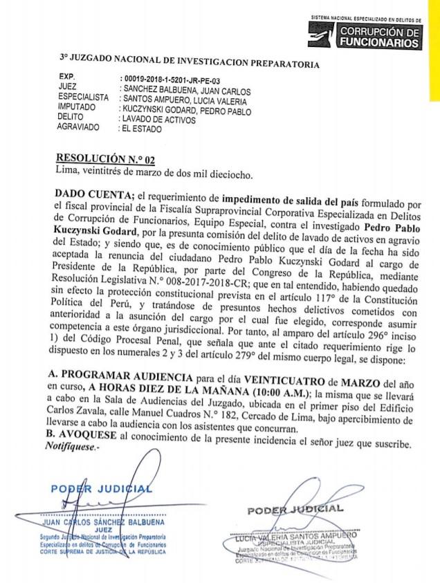 Documento del Poder Judicial.