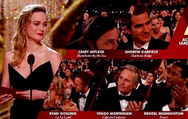 Oscar 2017: Brie Larson y su indignación al entregar el premio a Mejor Actor