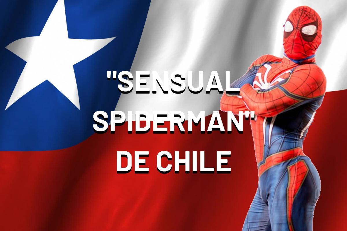 """""""Sensual Spiderman"""" no es el héroe que Chile se merece, pero sí el que necesita en estos difíciles momentos. (Foto: USI/@sensualspiderman en Instagram)"""
