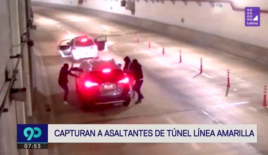 Puente Piedra: capturan a sujetos que habrían asaltado a una familia en el túnel de Línea Amarilla | VIDEO