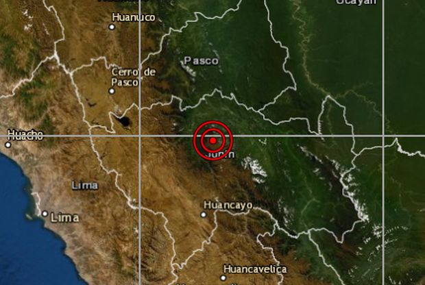 Junín: sismo de magnitud 4,4 se reportó en Chanchamayo, informó el IGP