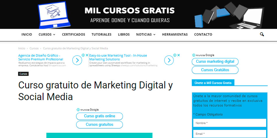 10 Paginas Web Para Llevar Cursos De Marketing Digital Online Gratis Economia Gestion