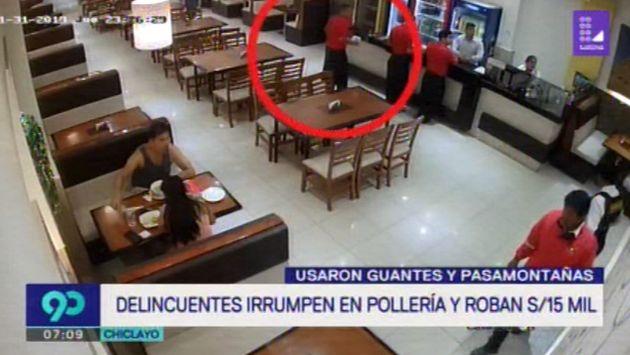 Chiclayo: Delincuentes asaltan pollería y se llevan unos 15 mil soles   VIDEO
