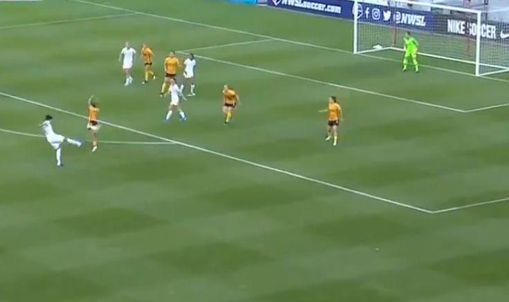 El gol de 'voleibol' que marcó Portland Thorns en la Liga de fútbol femenino en Estados Unidos | VIDEO