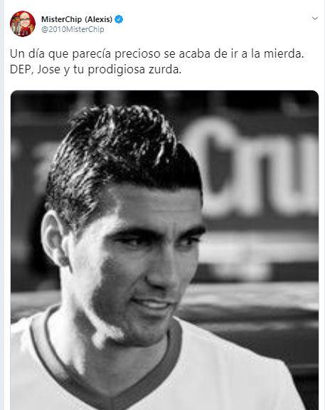 El lamento de Mister Chip por la muerte de José Antonio Reyes en Twitter.