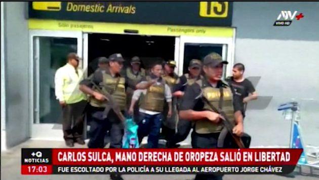 Policía traslada a Lima al sujeto sindicado como la mano derecha de Gerald Oropeza